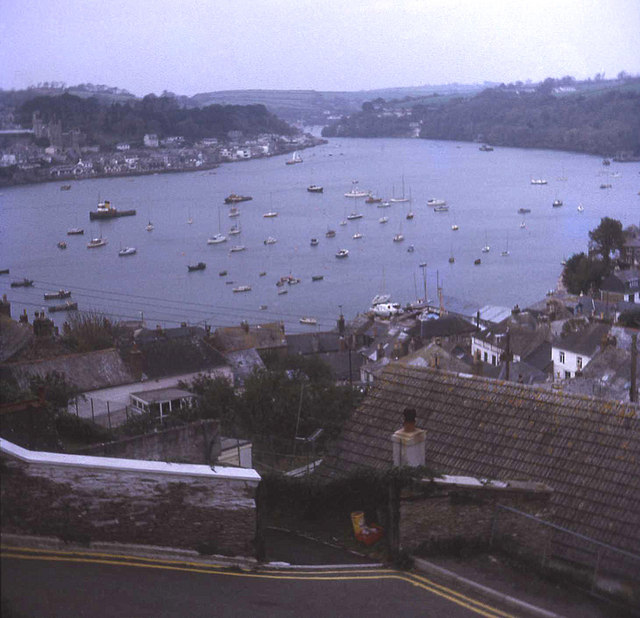 Polruan village and Fowey harbour