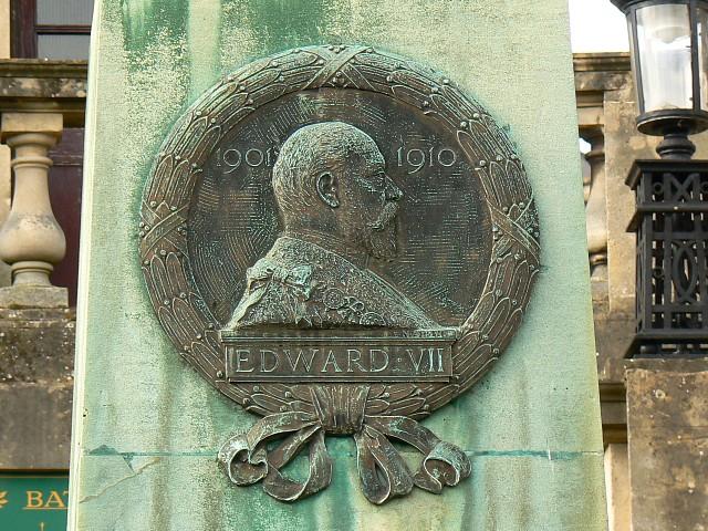 Profile, Edward VII memorial, Parade Gardens, Bath