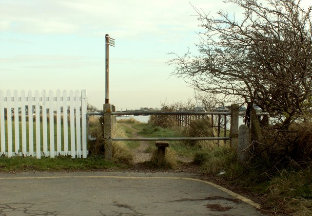 Public footpath at Creeksea