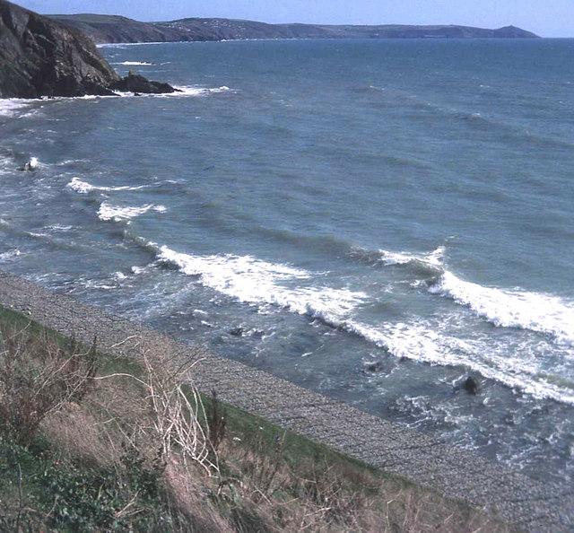Sea defence at Portwrinkle