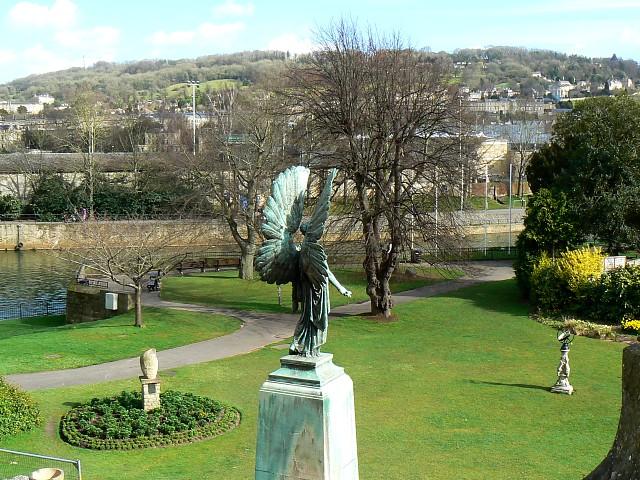 A view east over Parade Gardens, Bath