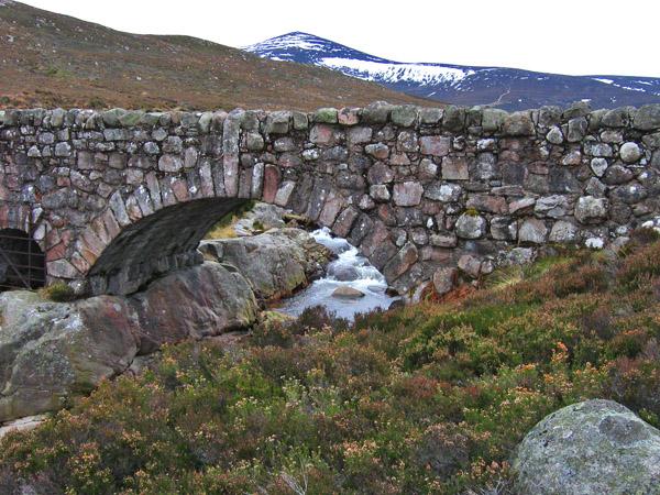 Bridge and Mount Keen, Glen Tanar