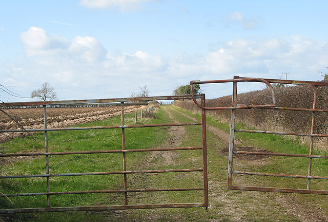 Gated track and footpath