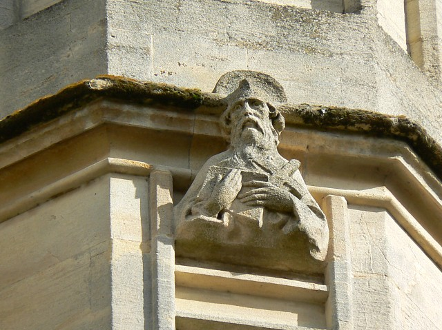 Not an angel, Bath Abbey west elevation
