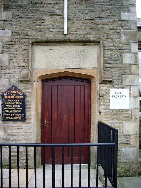 St Clements Church & School, Green Haworth, Doorway