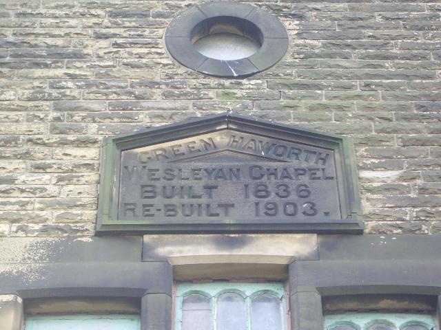 Green Haworth Wesleyan Chapel