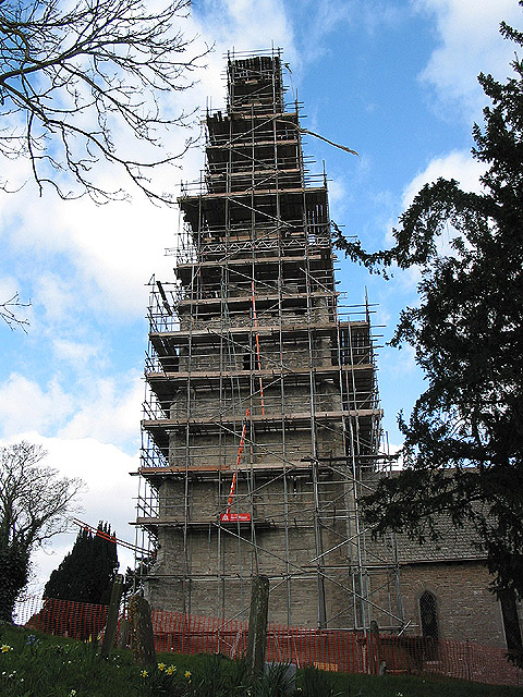 Tower and spire of the Church of St. John the Baptist, Eldersfield