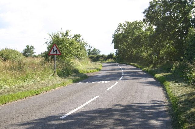 The road heading towards Twyford