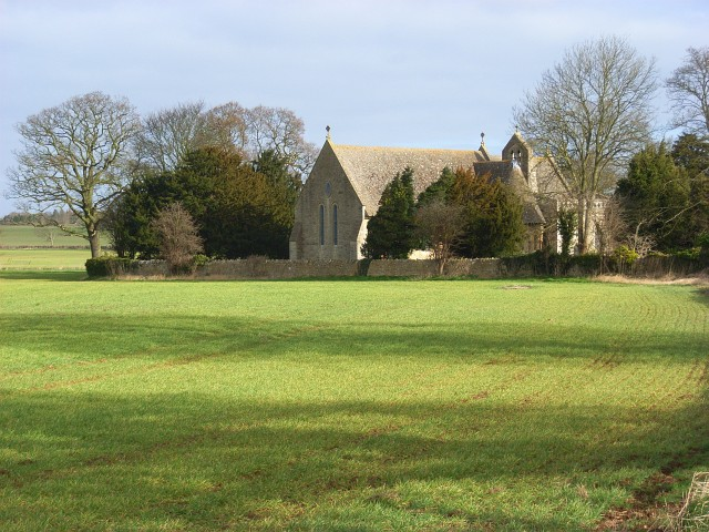 Farmland beside the church, Nuneham Courtenay