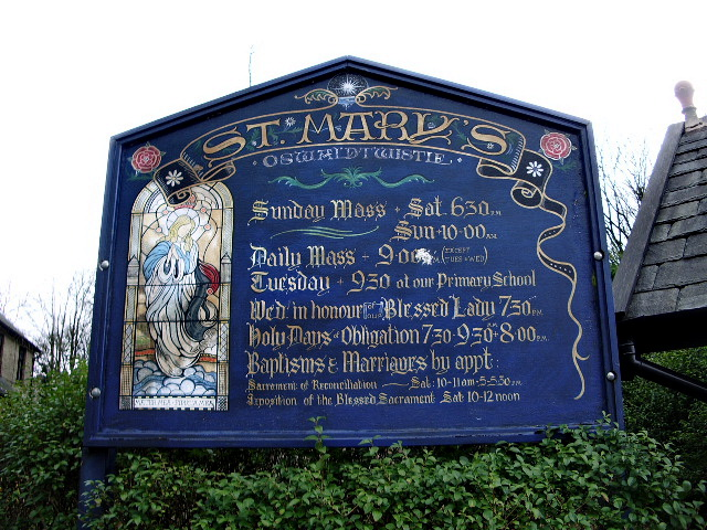 St Mary's Church, Oswaldtwistle, Sign