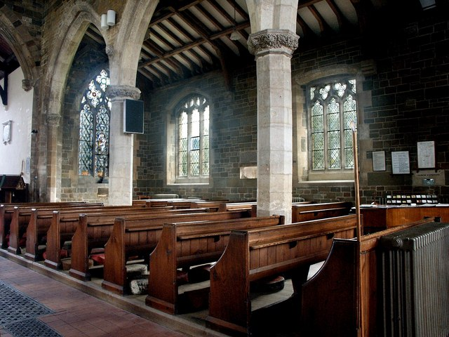 Interior of the Church of St Nicholas, Partney