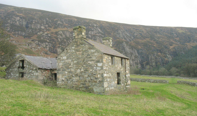 The derelict Ty Uchaf farmhouse