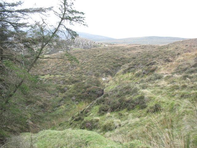 The upper reach of Afon Nant Gwrtheyrn