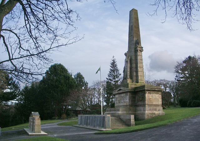 Oak Hill Park, Accrington, War Memorial