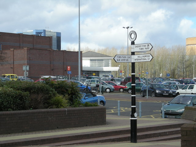 Town centre signpost