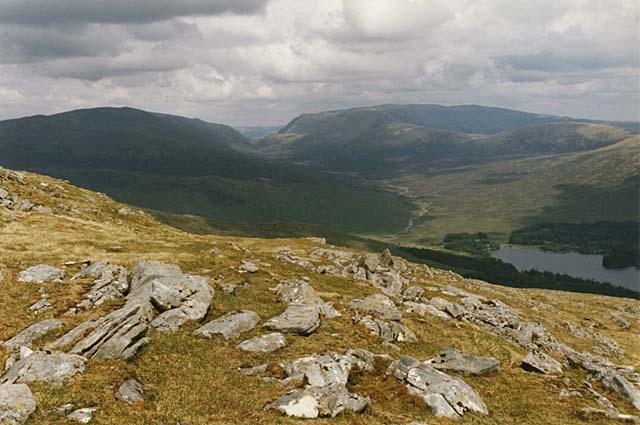 View east from Beinn na Lap