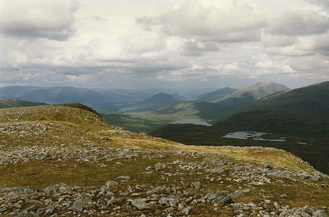 View northeast from Beinn na Lap