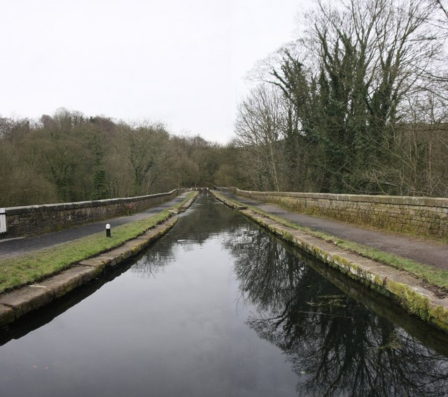 High Peak Cromford Canal Aqueduct over the River Derwent