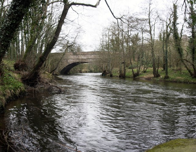 Wigwell Aqueduct Over The River Derwent