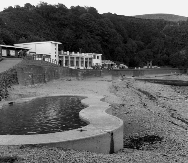 Paddling pool, Port Soderick, Isle of Man