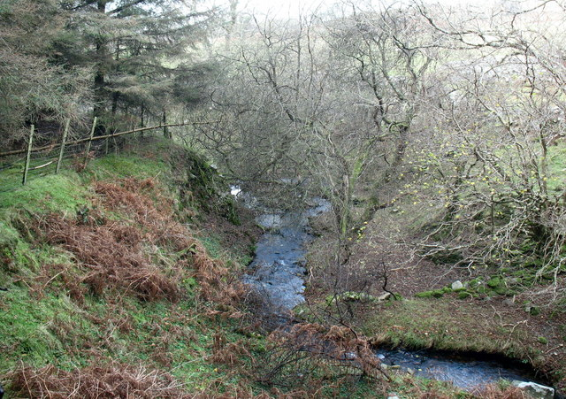Afon Nant Gwrtheyrn in its middle course