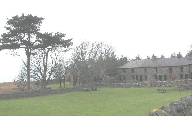 The Plas and Mountain View Terrace seen across Cae Bach