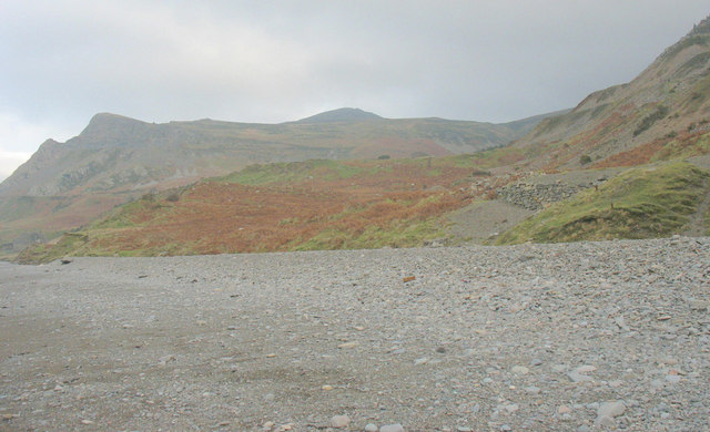 The track from the beach to Porth y Nant village
