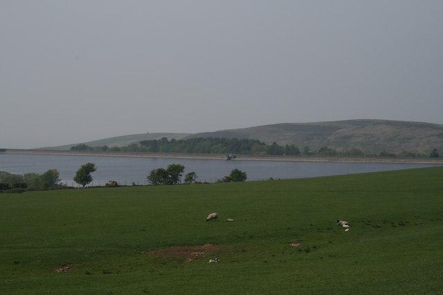 Barnacre Reservoir from Barnacre Moor