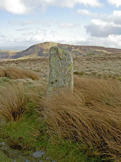 Standing stone with a hole drilled in