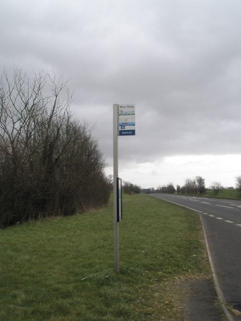 Bus stop just past Newell Lane, Bosham
