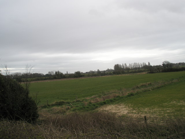 View across fields to footpath south of the A259 at Bosham