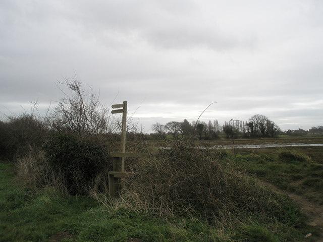 Stile at Bosham shoreline