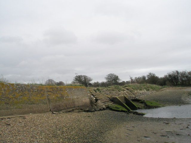 Outfall at Bosham shoreline