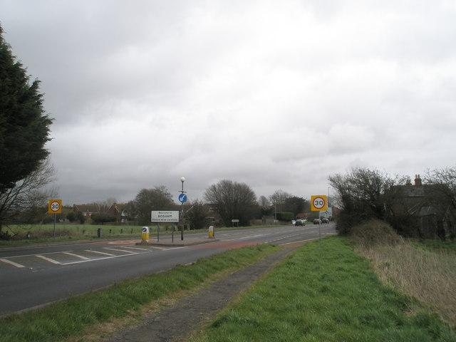 Village boundary at Bosham
