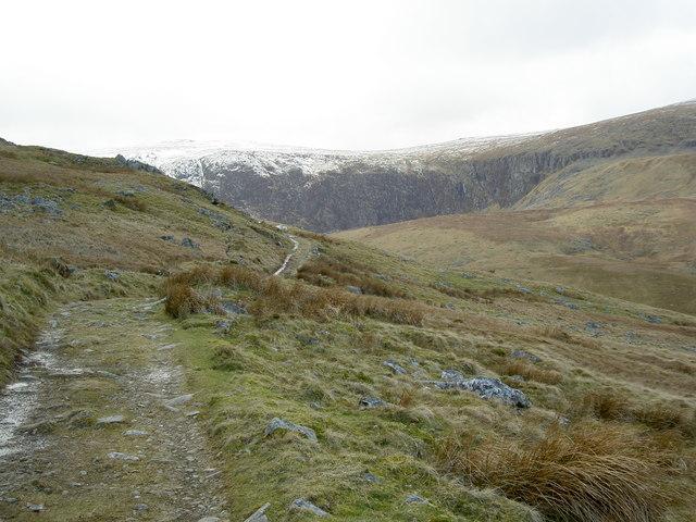 The track towards Melynllyn Reservoir