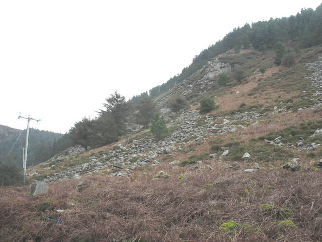 The northern slopes of Y Benglog hill overlooking Porth-y-Nant
