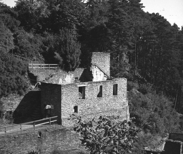 Derelict mine buildings, Glen Mooar, Isle of Man