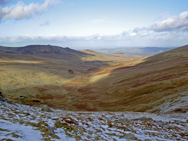 The valley of Afon Melynllyn