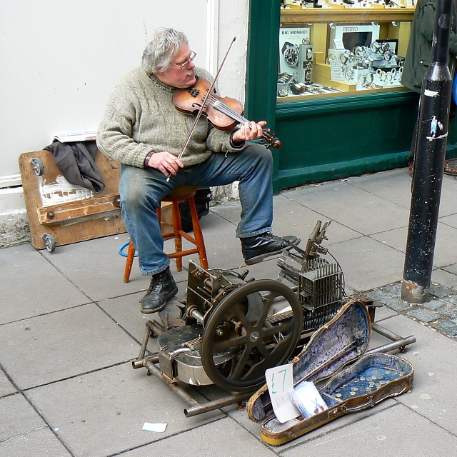 Street Musician, Burton Street, Bath