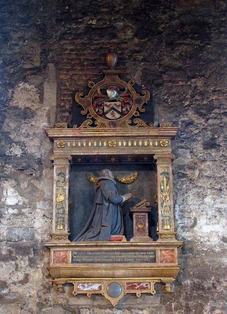 All Hallows by the Tower, Byward Street, London EC3 - Wall monument