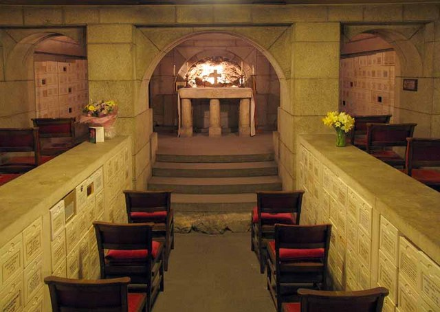 All Hallows by the Tower, Byward Street, London EC3 - Crypt columbarium