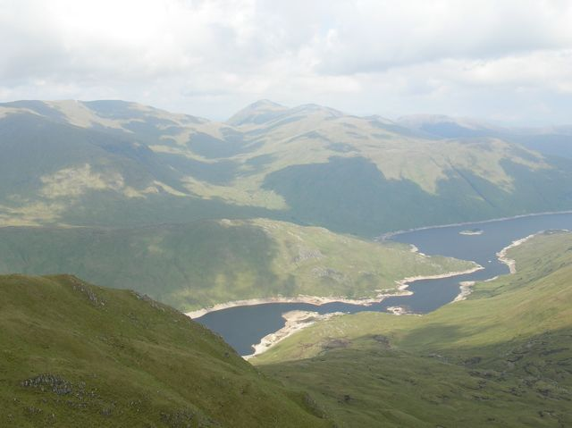 Narrow section of Loch Mullardoch from Beinn Fionnliadh