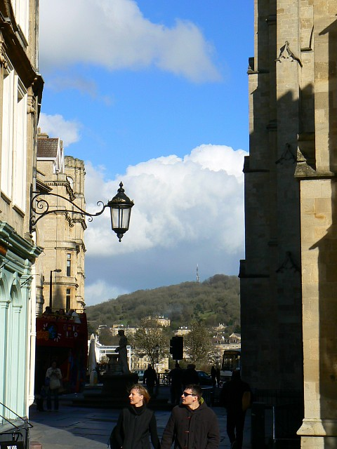 Looking east from Abbey Churchyard, Bath