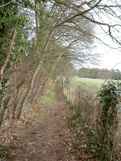 Footpath in Thornton Manor Estate