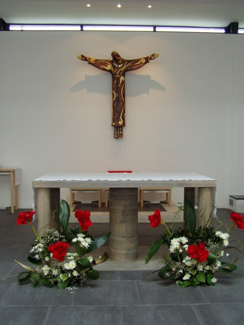 Altar inside St. Bede's RC church