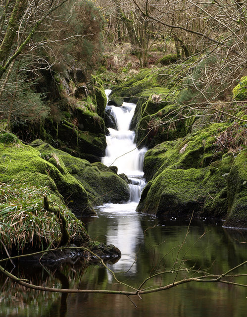 Waterfall on the Auchmantle Burn
