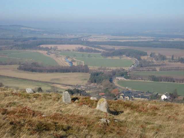 Overlooking Akeld from Iron Age settlement on Harehope hill