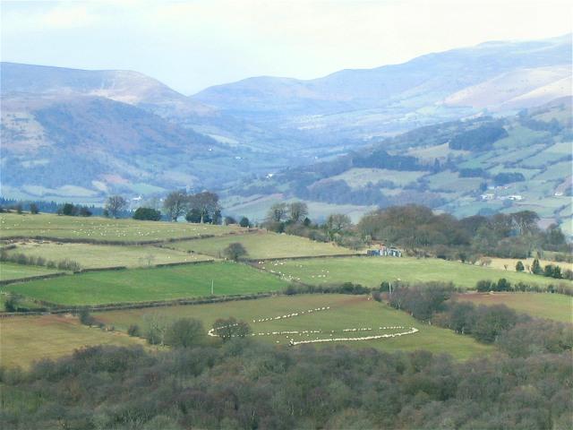 View north from Mynydd Llangatwg