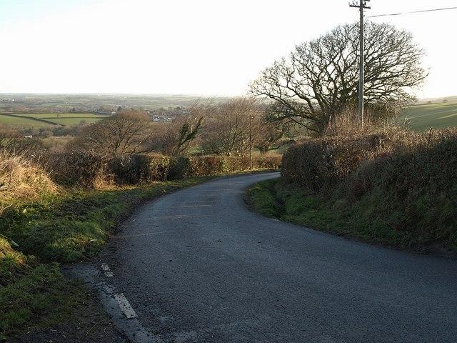 Bend in lane to Badharlick
