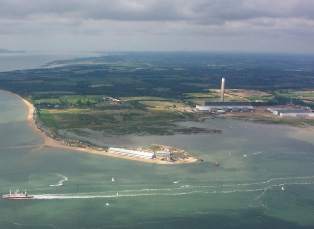 Aerial View of Calshot Spit